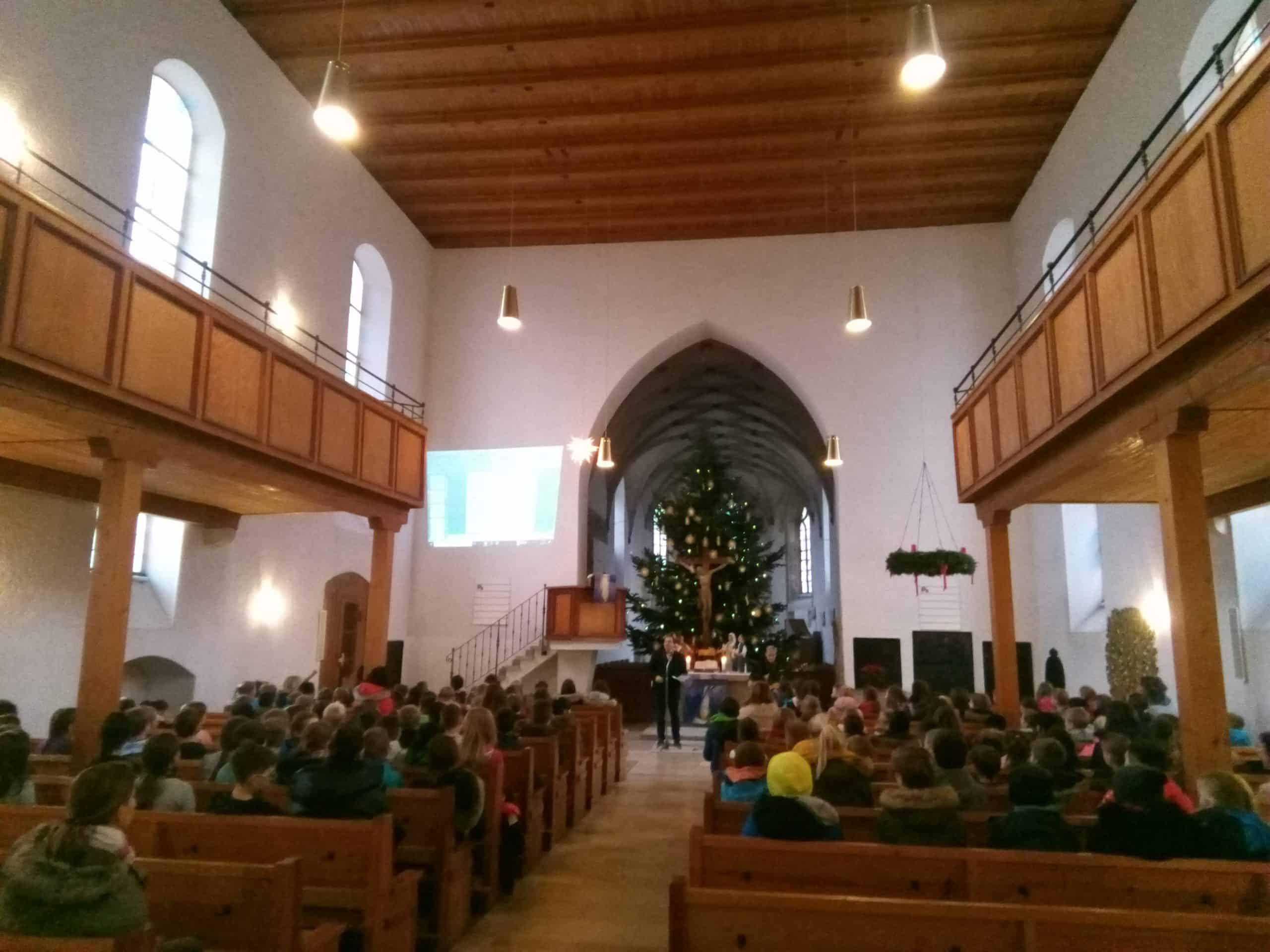 Weihnachtsgottesdienst vor den Weihnachtsferien