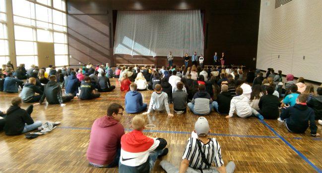 Schülervollversammlung der Sekundarstufe der Gemeinschaftsschule