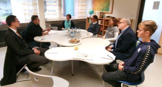 Unser Wahlkreisabgeordneter im Stuttgarter Landtag besucht die Gemeinschaftsschule
